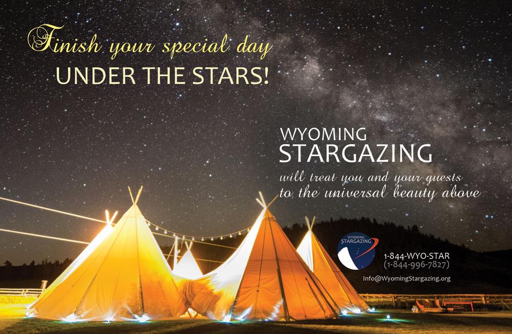 Wyoming Stargazing Wedding Ad 2016