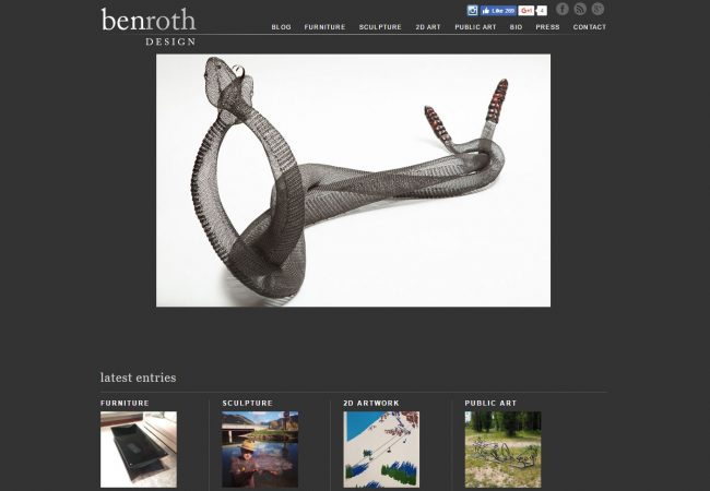Ben Roth Design Website