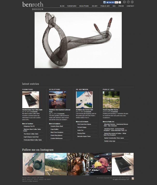 Ben Roth Design Website