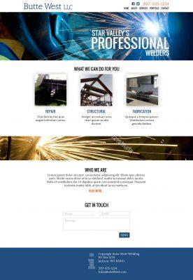 Butte West Welding Website Design