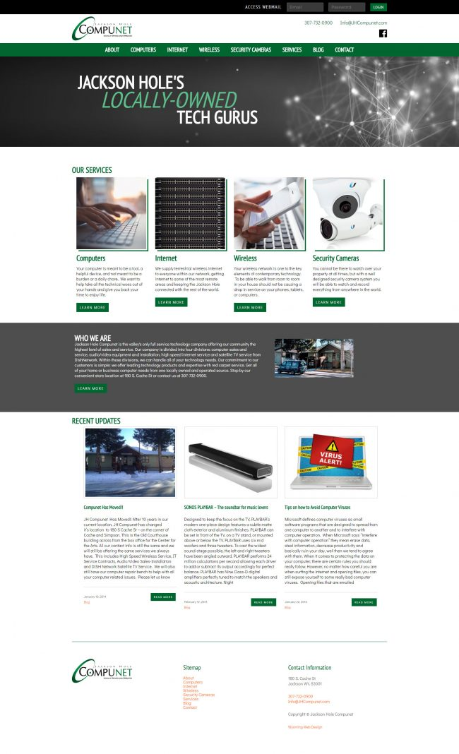 JH Compunet Website