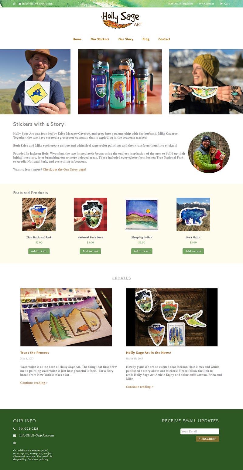 Holly Sage Art Website
