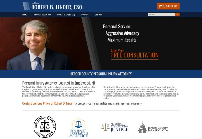 Robert B. Linder Website Design