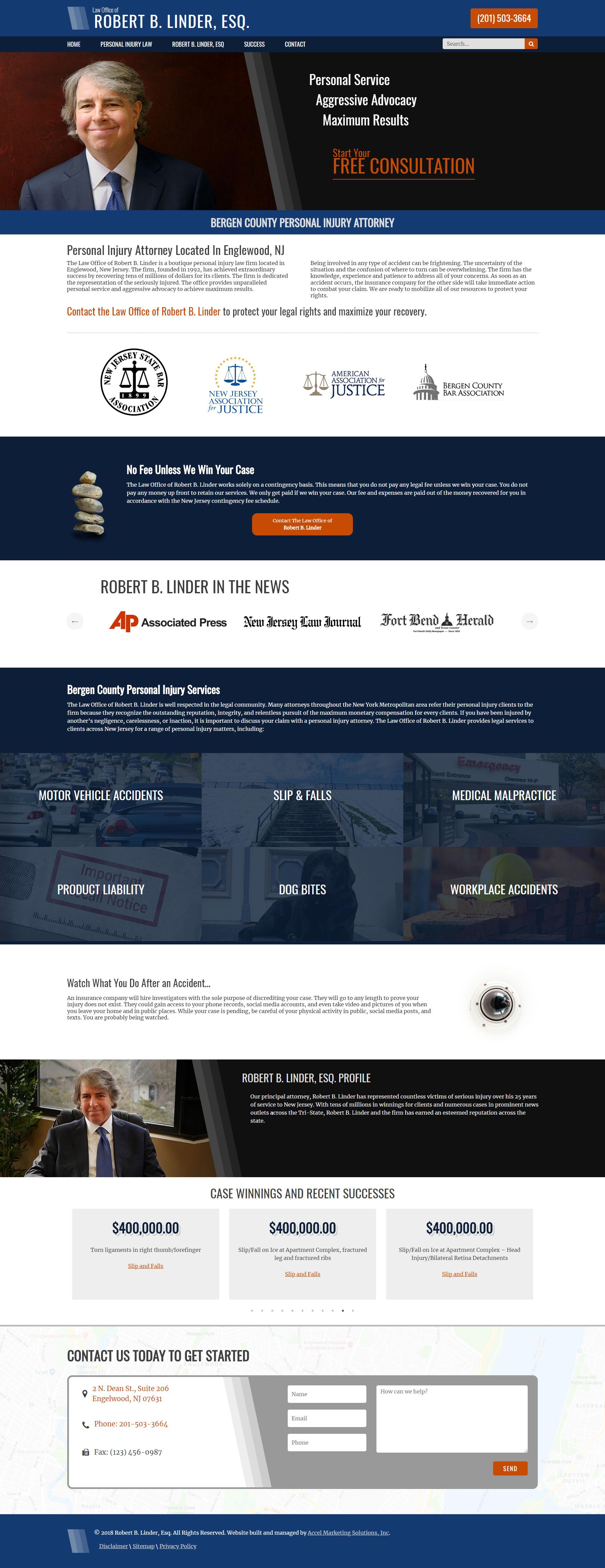 Robert B. Linder Website Design