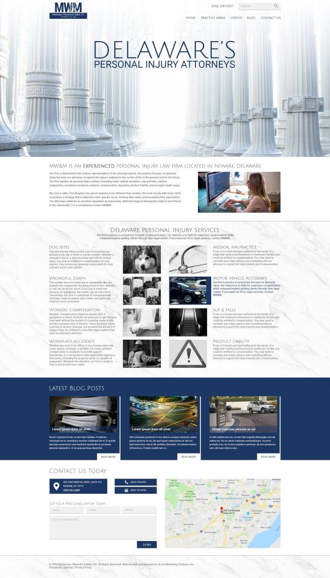 Mattleman, Weinroth, and Miller, P.C. Website Design