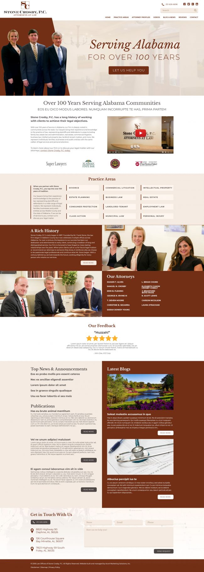Stone Crosby Law Website Design